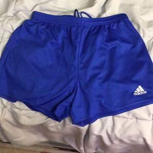 Blue adidas women's shorts